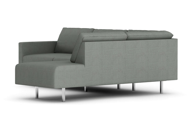 Showing side view of the Metz Bumper Sectional.