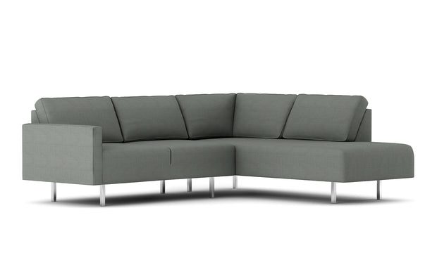 Showing front view of the Metz Bumper Sectional.