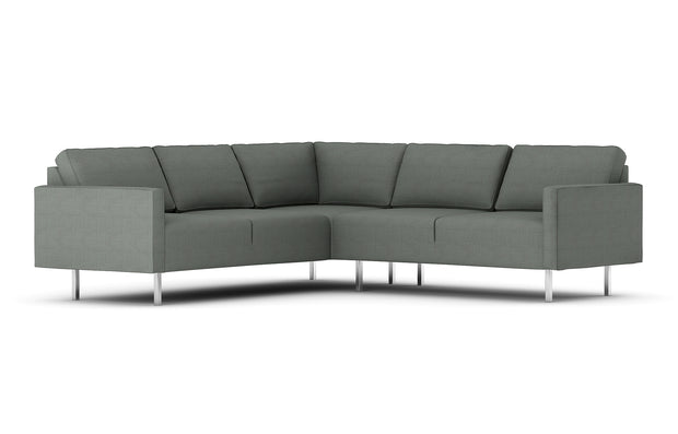 Showing front view of the Metz Corner Sectional.