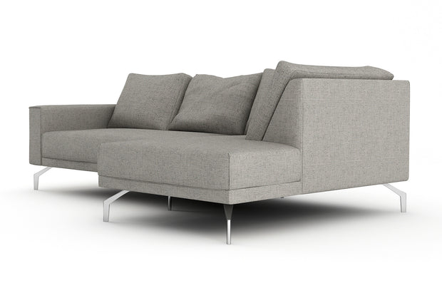 Showing side view of the Miku Apartment Bumper Right Sectional.