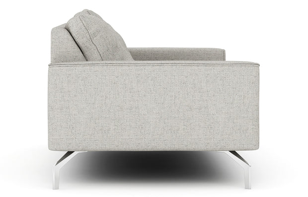 Showing side view of the Miku Apartment Chaise Sectional.