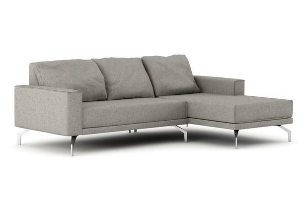 Showing front view of the Miku Apartment Chaise Right Sectional.