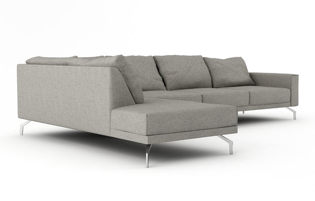 Showing side view of the Miku Bumper Left Sectional XL.