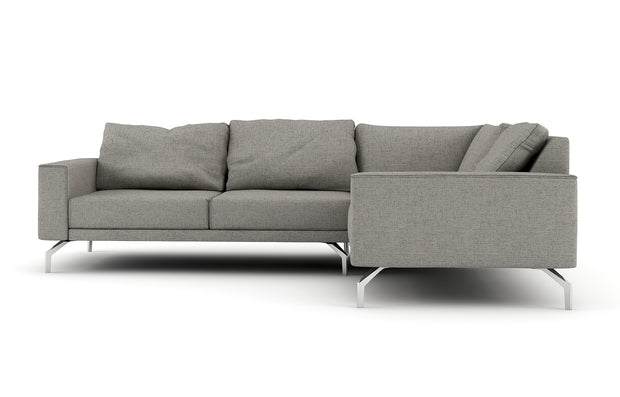 Showing front view of the Miku L Sectional.
