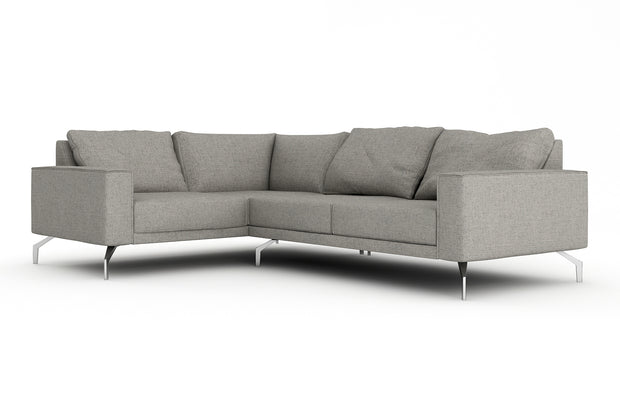 Showing angle view of the Miku L Sectional.