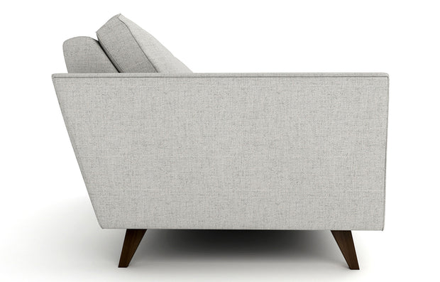 Showing side view of the Pel Loveseat.