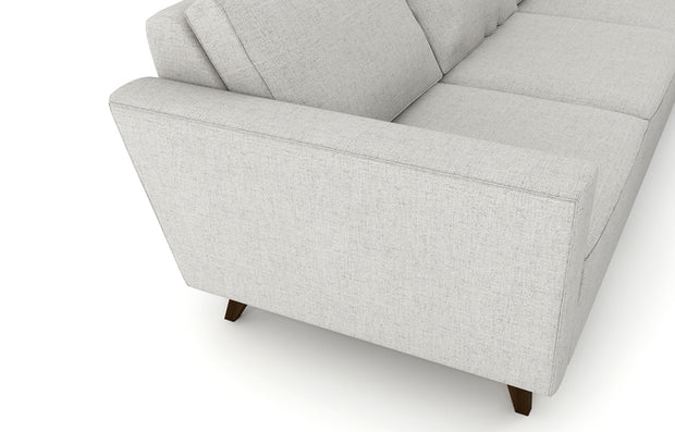 The overall look was inspired by the retro sofas of past, but we updated it with a more modern take.