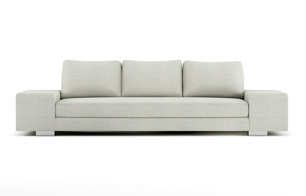 Showing front view of the sofa in quinncy legs.