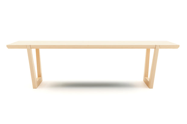 The beveled edge has a contour that gives the table a lighter precense and sets it apart with angular bliss.