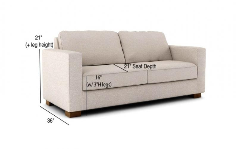 comfortable couch measurements