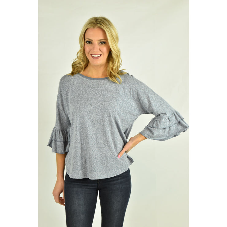 Layered Ruffle Bell Sleeve Top