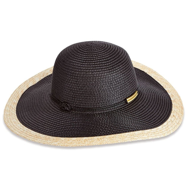 Color Block Black Sun Hat