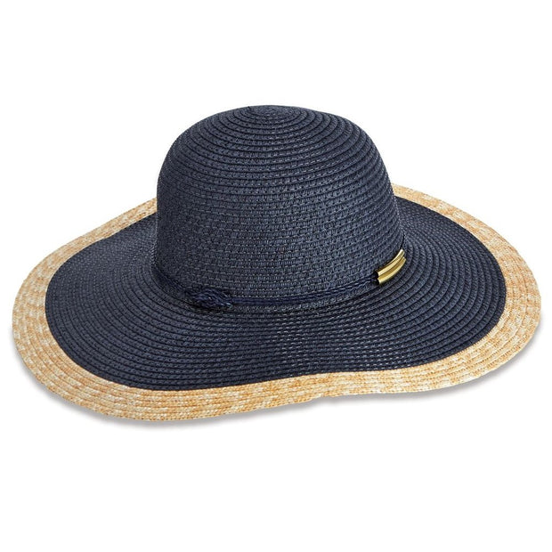 Color Block Navy Sun Hat