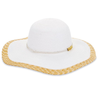 Color Block White Sun Hat