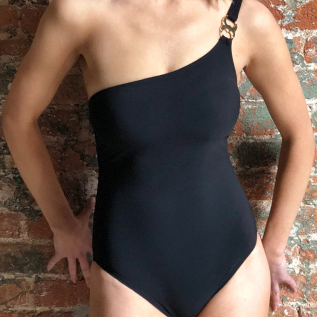 Solid Gemini Link One Shoulder One Piece