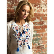 Wildflower Embroidered Beach Tunic