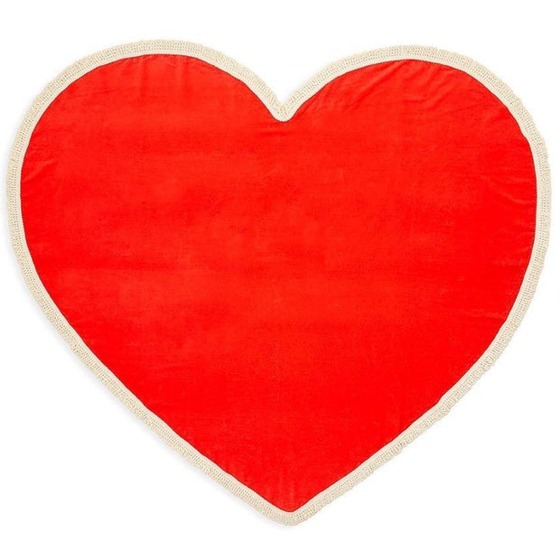 All Around Giant Heart Towel with Tassels