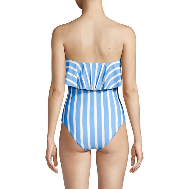 Stripe Ruffle Top One Piece