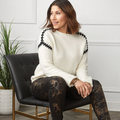 Whipstitch Shoulder Sweater