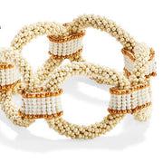 Seed Bead Oval Stretch Bracelet