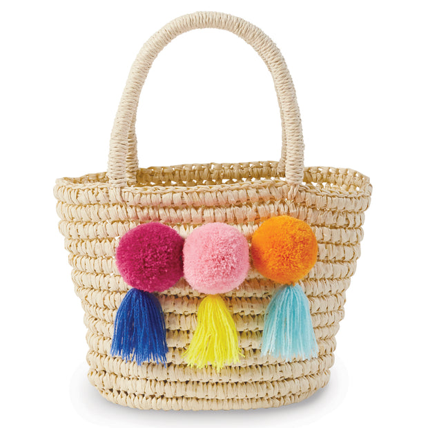 Girls Straw Tote
