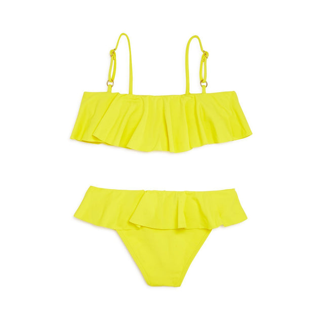 Girls Solid Lucy Little Two-Piece Swimsuit