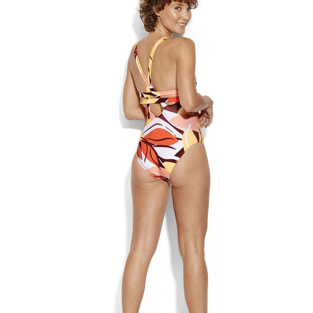 Cut Copy Deep V Maillot One Piece