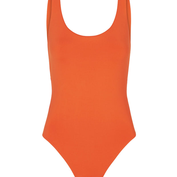 Solid Retro Tank Maillot One Piece