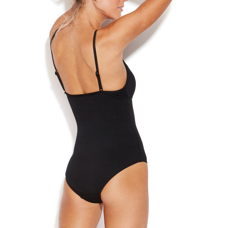 Solid Quilted Maillot One Piece
