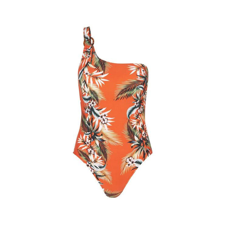 Ocean Alley One Shoulder Maillot One Piece