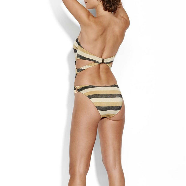 Sunset Stripe Bandeau Maillot One Piece