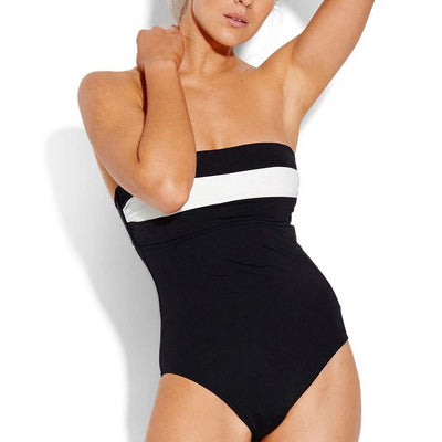 Pop Block DD Bandeau Maillot One Piece
