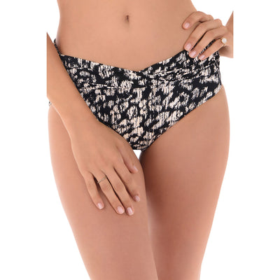 Cat Walk Shirred Waist Bikini Bottom