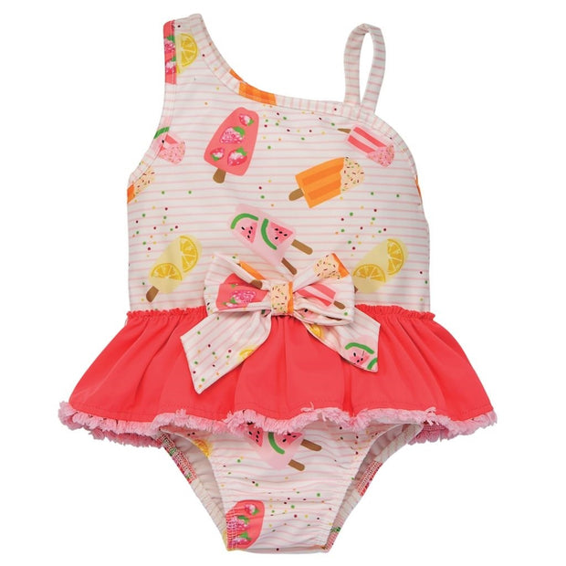 Girls Popsicle Print Swimsuit