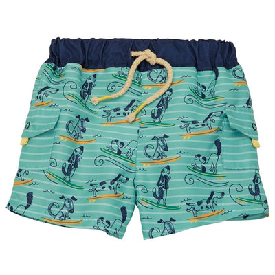 Surfing Dogs Swim Trunks