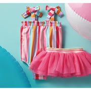 Girls' Stripe Swimsuit with Removable Tutu