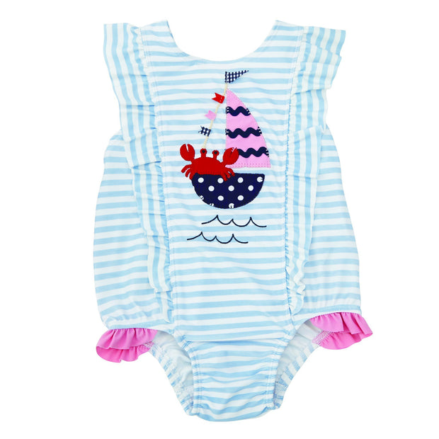 Baby Sail Away Ruffle Swimsuit