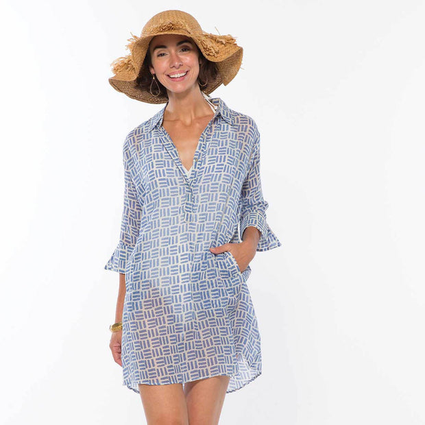 Pillars Blue Beach Tunic