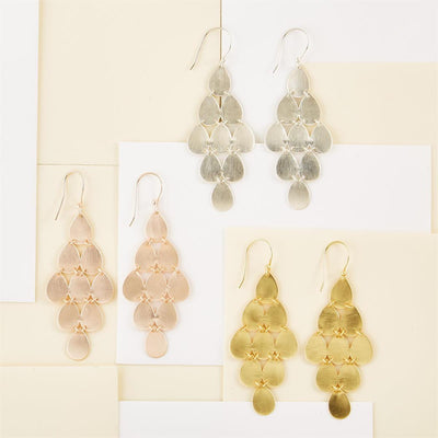 Teardrop Cascade Earrings