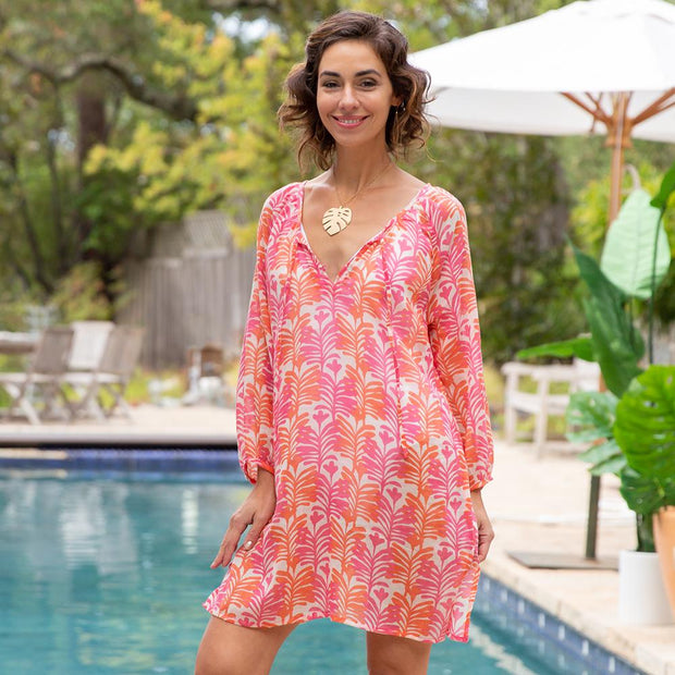 Georgia Pink bluCotton Shift Cover Up