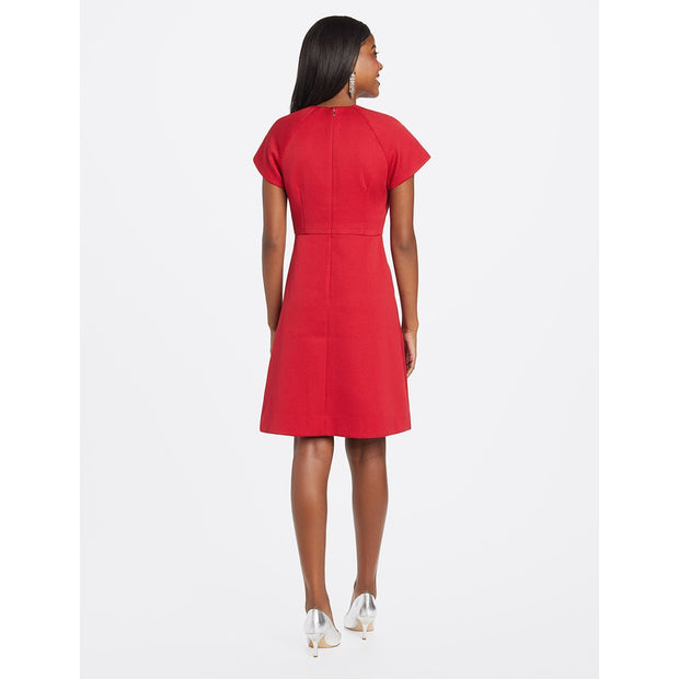 Jacquard Raglan Fit and Flair Dress
