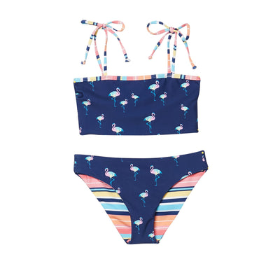 Girls Take Wing Reversible Tube Bra Bikini Set