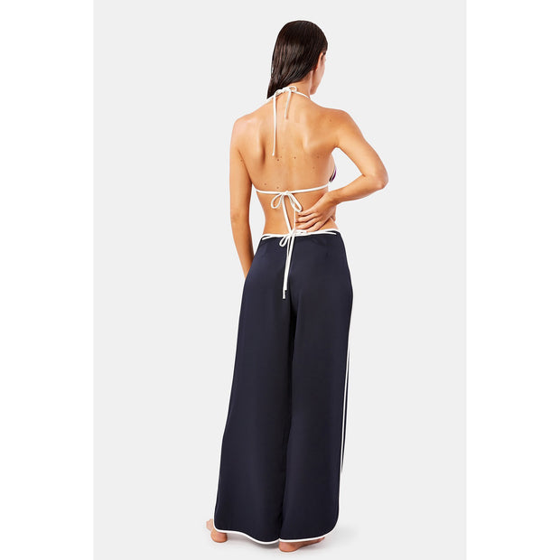 Navy Outline Wrap Pants