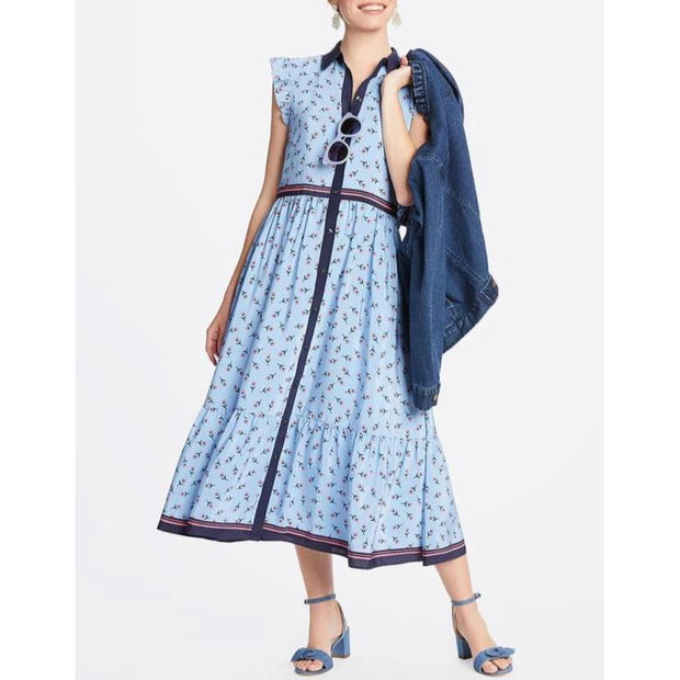 Collection Flutter Sleeve Patio Shirtdress