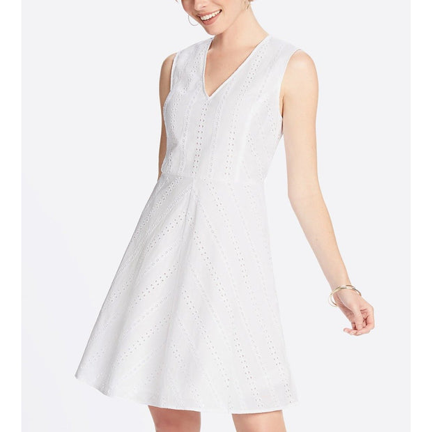 Striped Eyelet Love Circle Dress