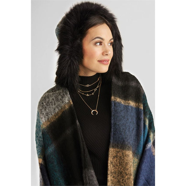 Campfire Faux Fur Trim Wrap