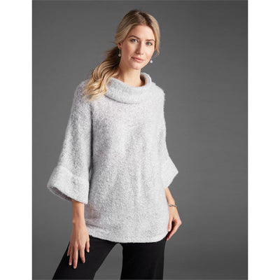 Fuzzy Cowl Neck Top