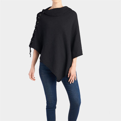 Christie Reversible Lace Up Poncho