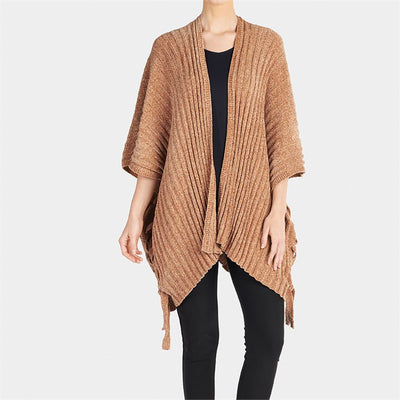 Cozy Chenille Side Tie Cardigan