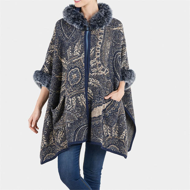 Hooded Floral Toggle Cardigan